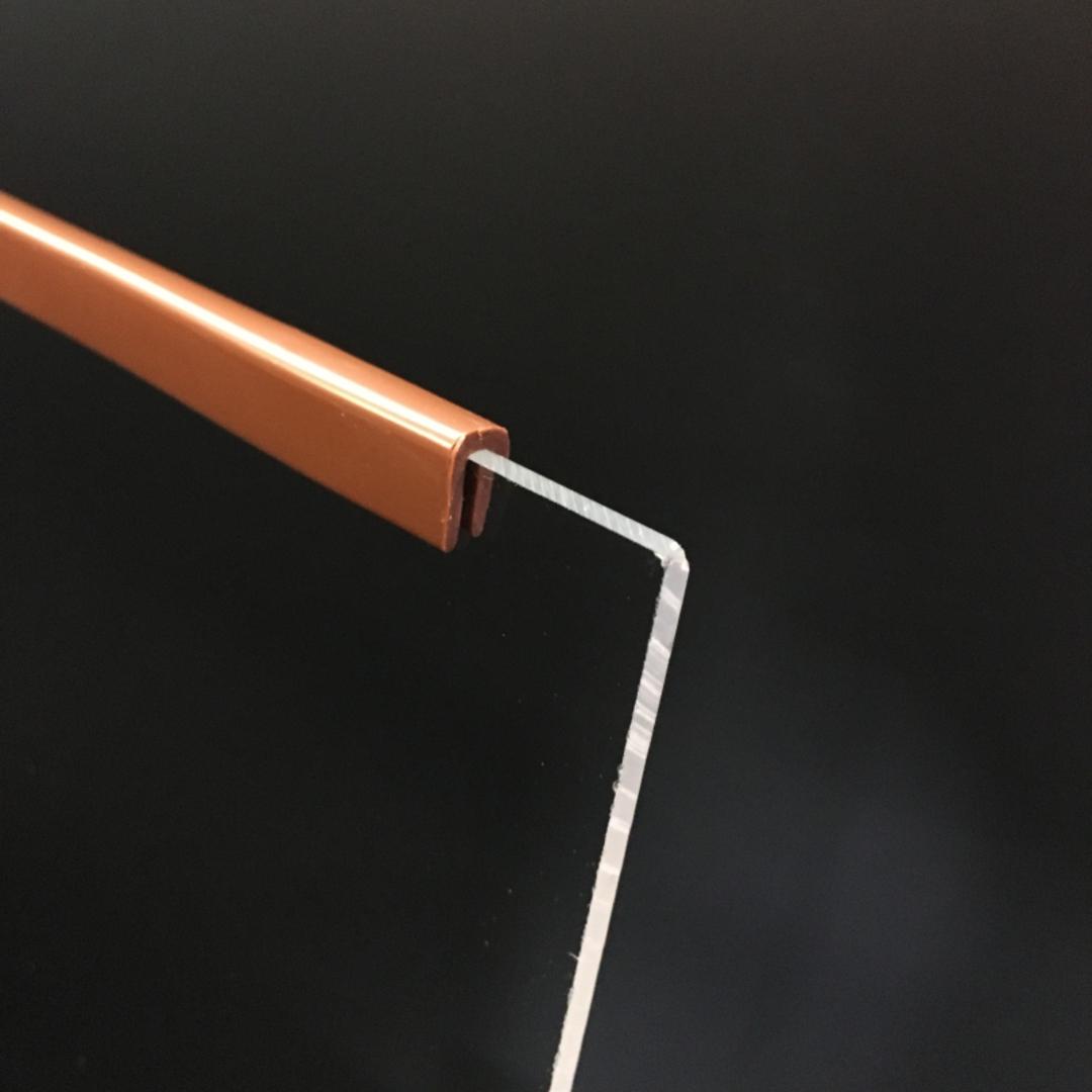 ClipGlaze 4mm Edging Strip Brown PER METRE image 0