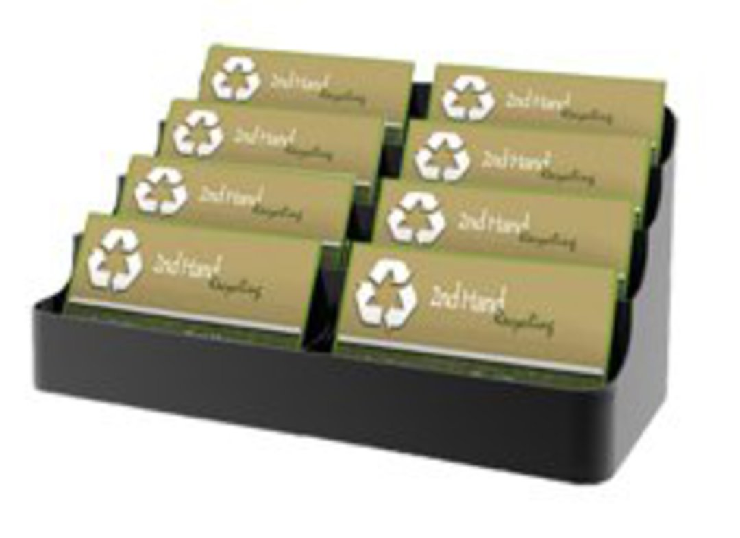 8 Pocket Black Recycled Business Card image 0