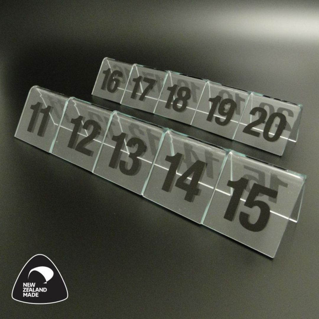 Clear Table Numbers 11-20 image 0