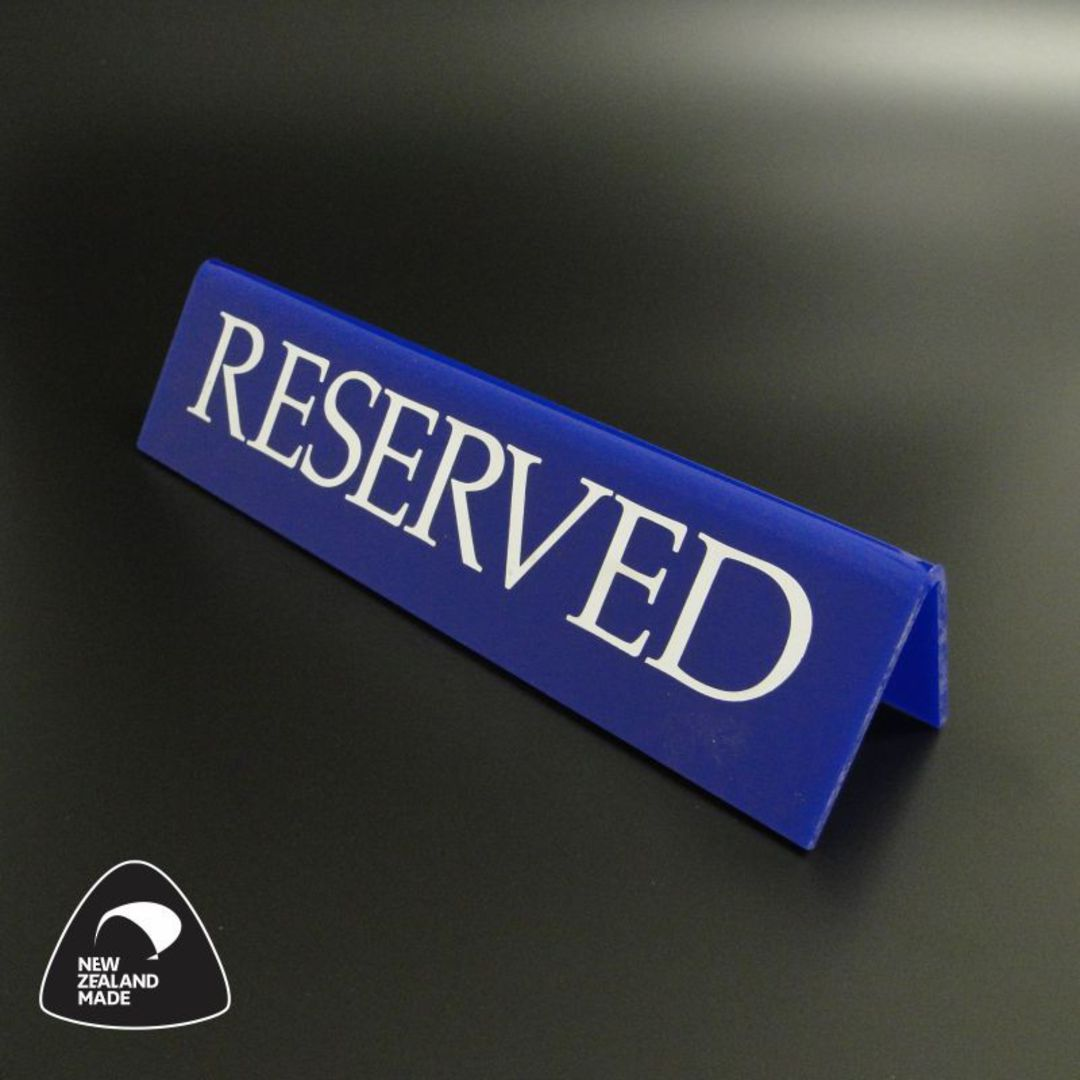 Large Blue RESERVED Table Sign image 0
