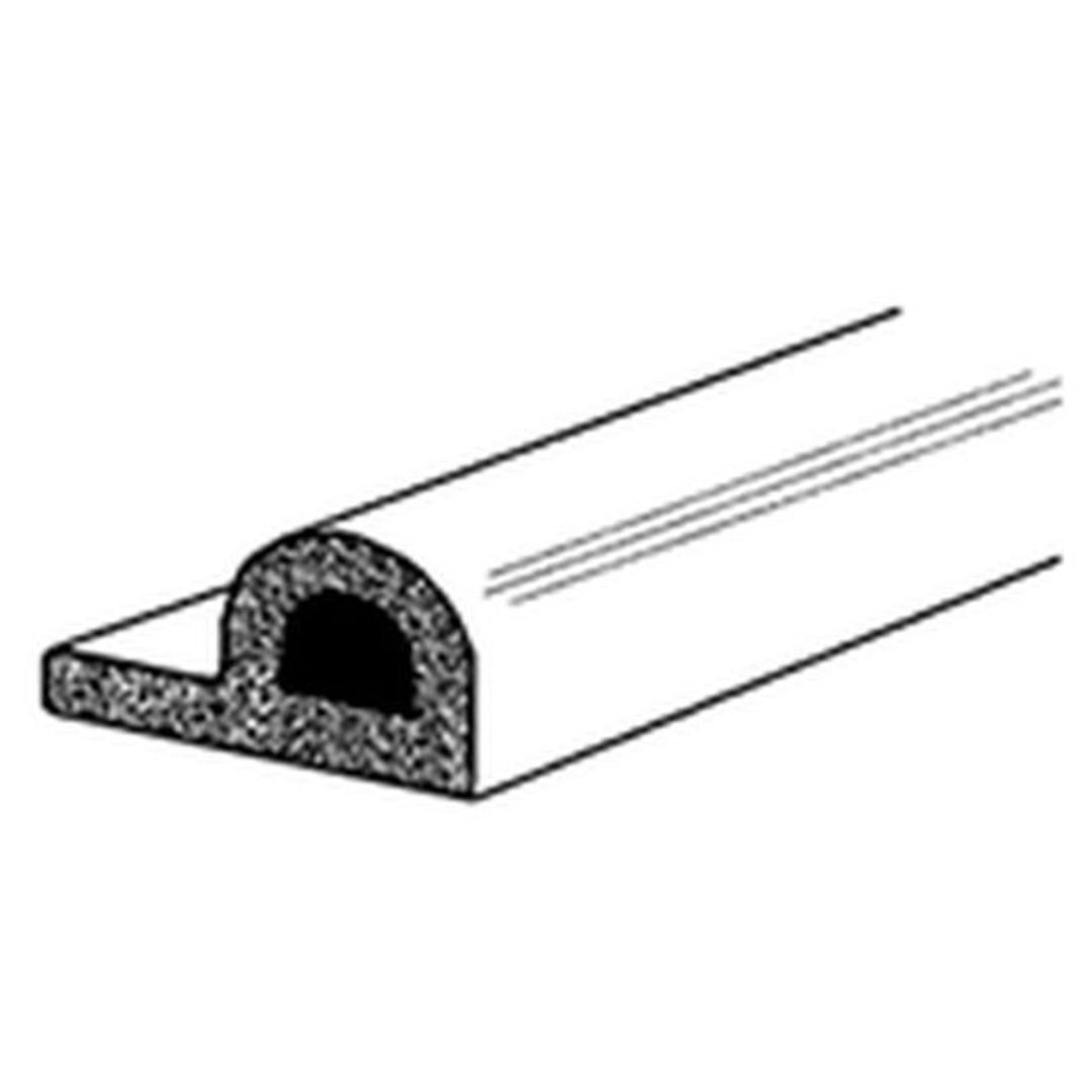 (DGDE908) EPDM P Strip White Draught Excluder 5m Roll image 0