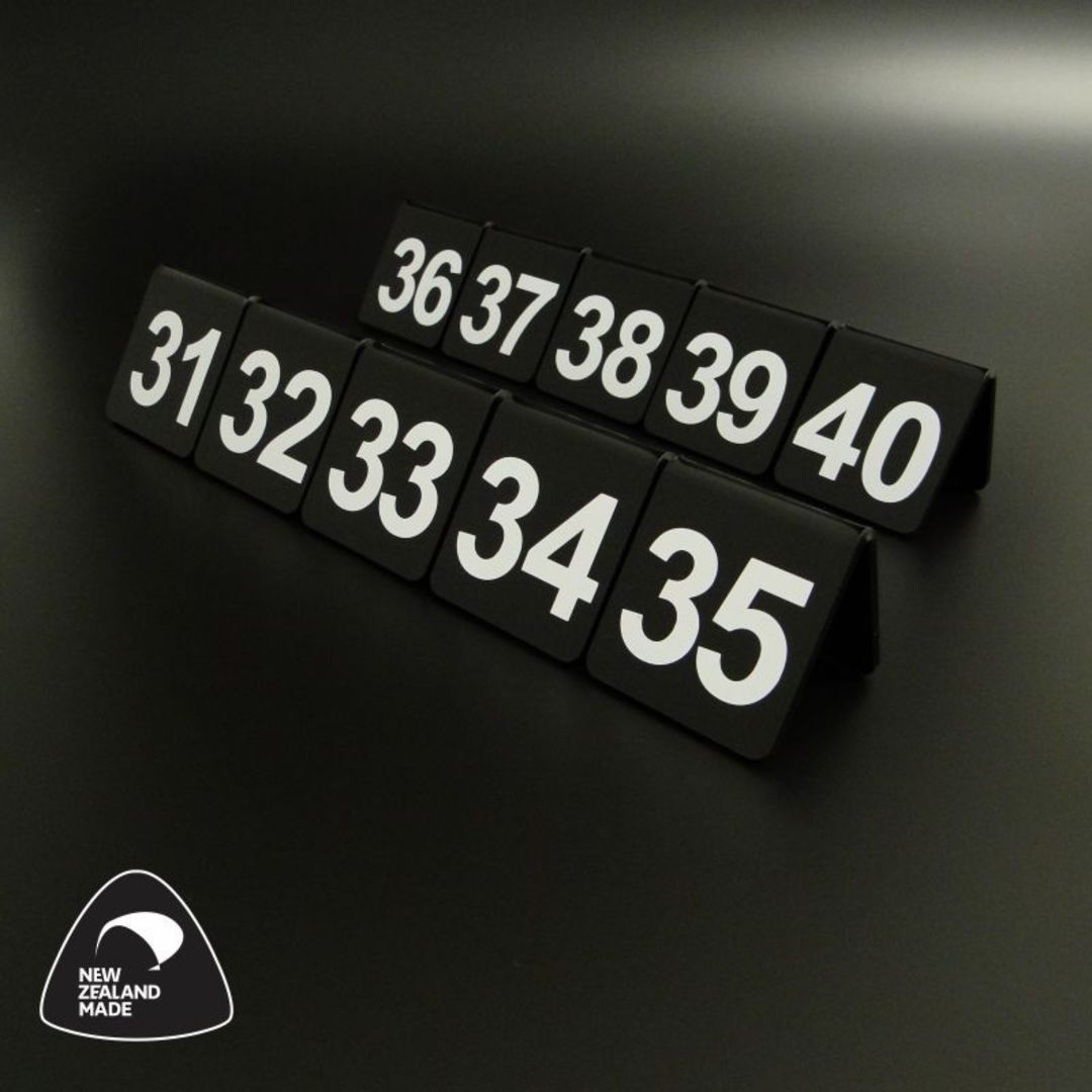 Black Table Numbers 31-40 image 0