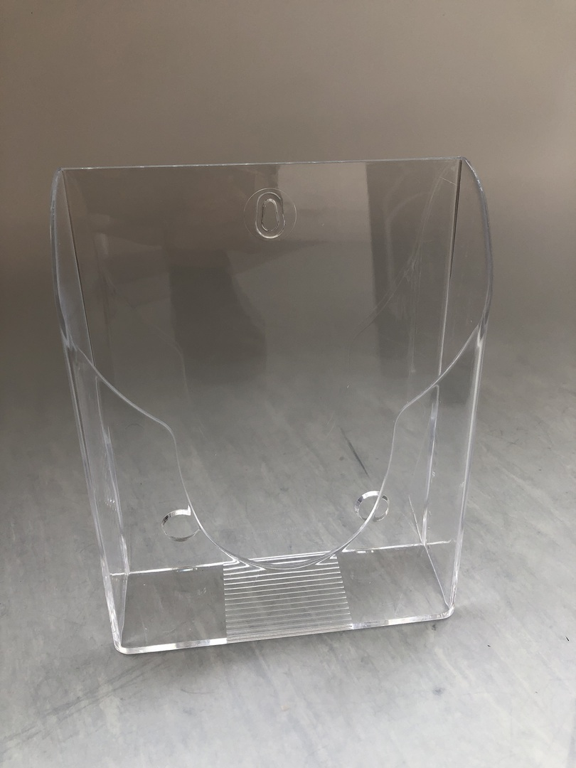 A5 Brochure Holder, Counter and wall mount clear image 0