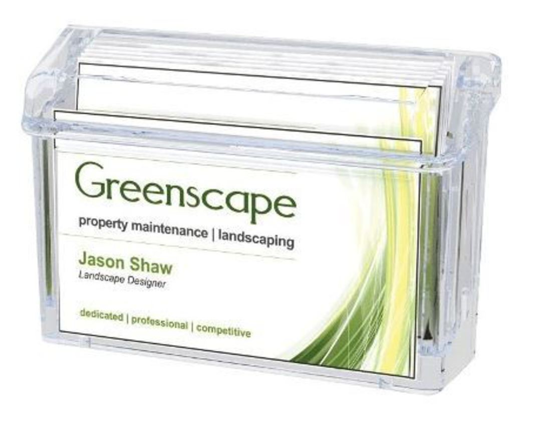 Outdoor Business Card Holder with Lid image 0