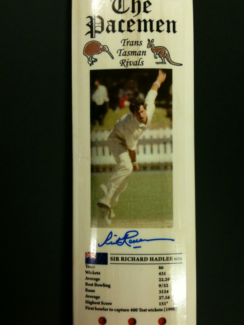 The Pacemen - Signed Cricket Bat image 2