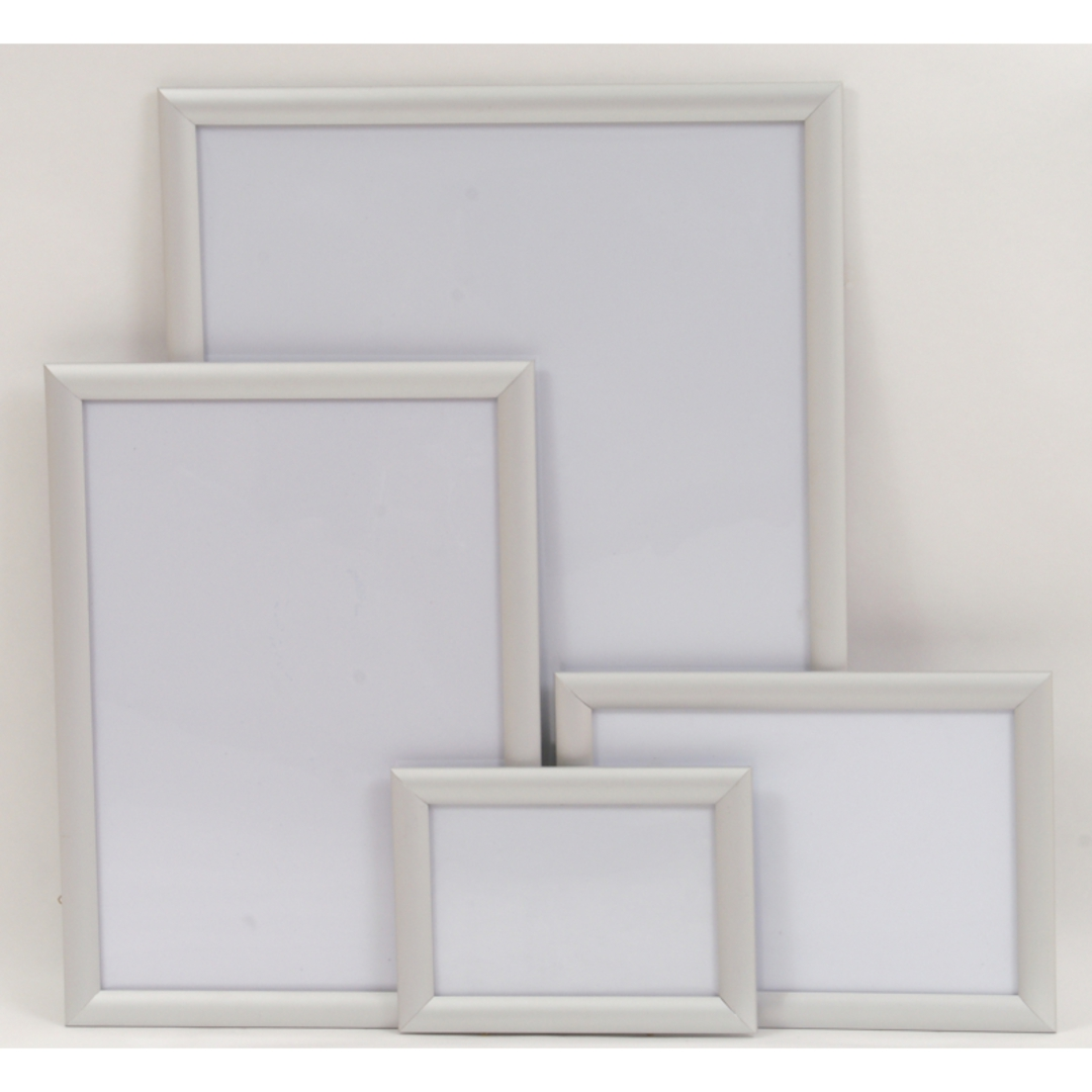 A4 Silver Square 25mm Snap Frame image 0