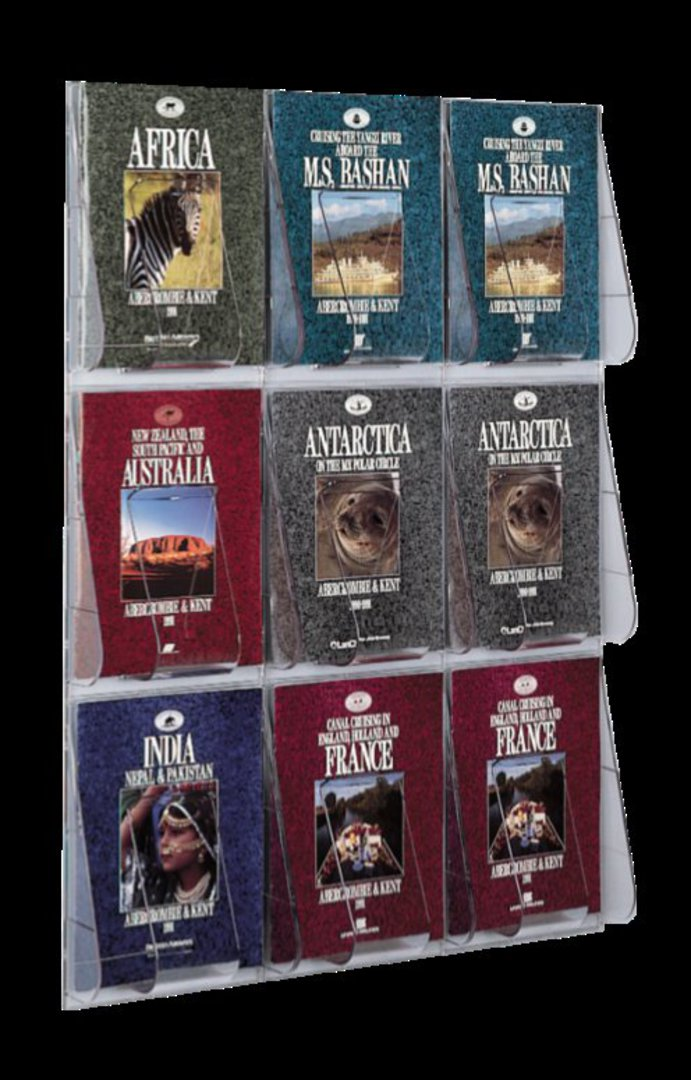 """(56801) """"Stand-Tall"""" Literature Rack, 9 x A4, Wall Rack image 0"""