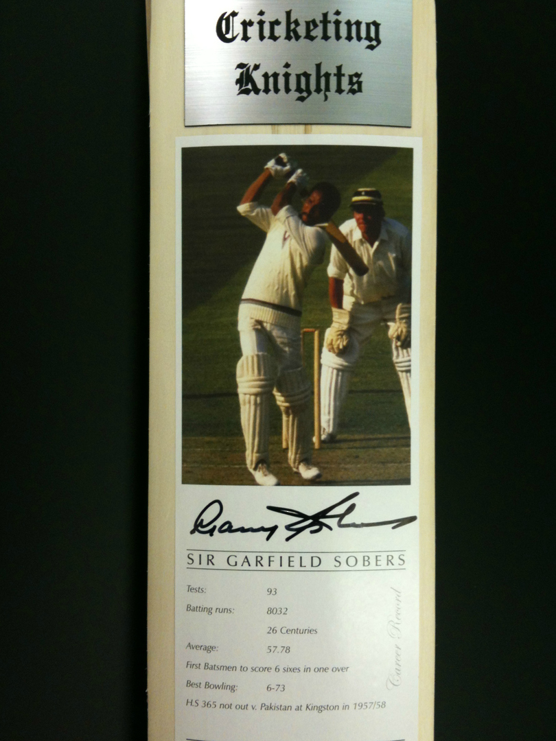 Cricketing Knights - Signed Cricket Bat image 2
