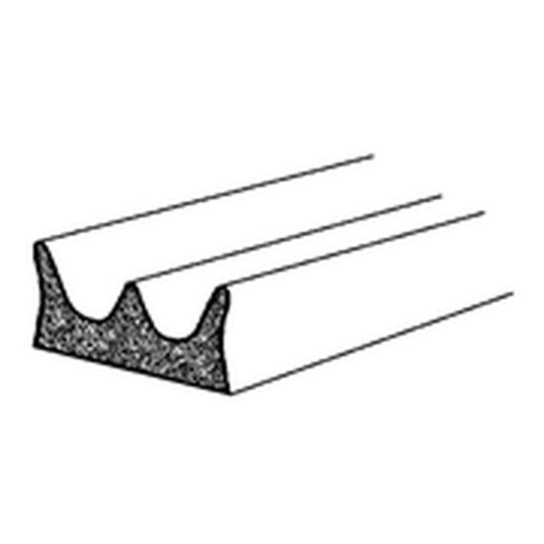 (DGDE910) EPDM E Strip Black Draught Excluder 5m Roll image 0
