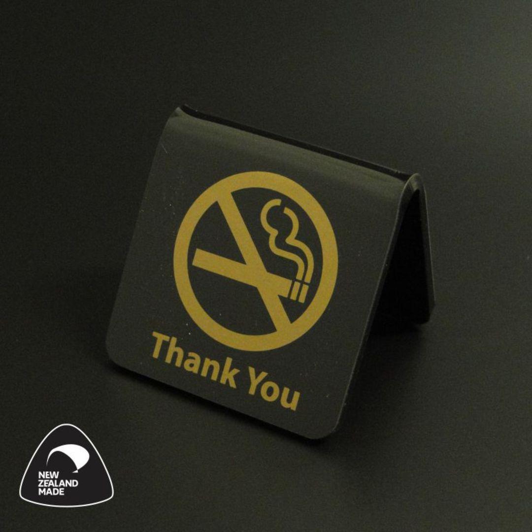 Black/Gold No Smoking Table Signs image 0