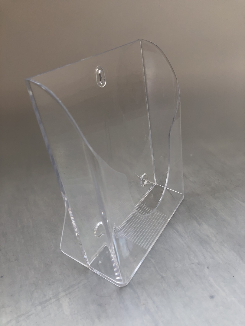 A5 Brochure Holder, Counter and wall mount clear image 1