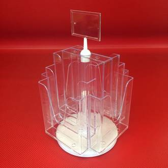 A5x8 Benchtop Revolving Brochure Holder