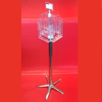 A5x8 Floor Stand Revolving Brochure Holder no castors