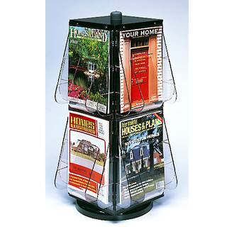 Stand-Tall Literature Rack 8 x A4, Desktop Rotating