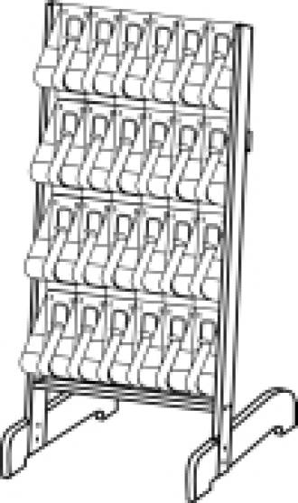 "(58641) ""Stand-Tall"" Literature Rack, 24 x DLE, Easel"