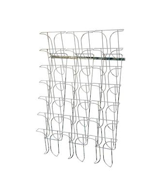 Chrome Wire Literature Holder Rotating Floor Stand A4 21 -pocket 7 Tier x 3 Wide