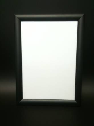A1 Black Square 25mm Snap Frame