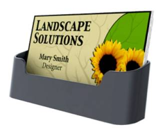 Single Pocket Black Recycled Business Card Holder