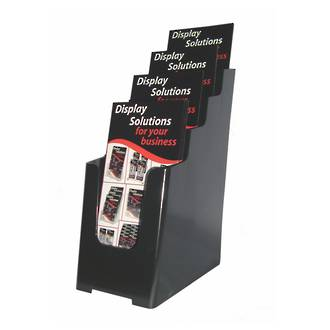 DLE 4-Tier Black Recycled Desk/WallMount