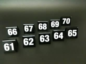 Black Table Numbers 61-70