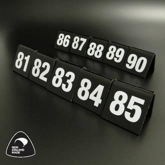 Black Table Numbers 81-90
