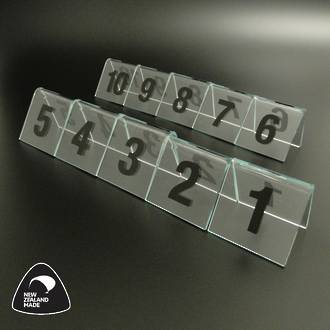 Clear Table Numbers 1-10