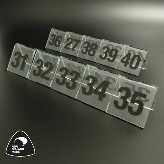Clear Table Numbers 31-40
