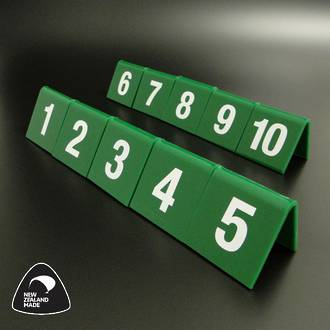 Green Table Numbers 1-10