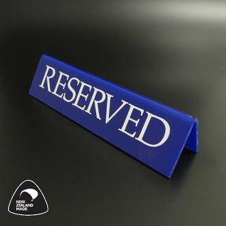 Large Blue RESERVED Table Sign