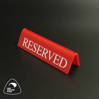 Small Red RESERVED Table Sign