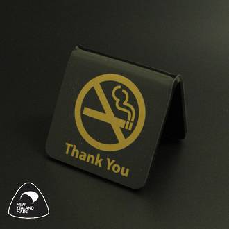 Black/Gold No Smoking Table Signs