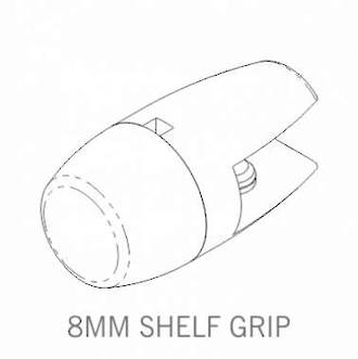 Axis Shelf Grip 8mm