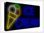 (LED-SIGN-07) LED Flashing ICE CREAM Sign