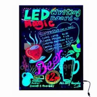 LED Writing Board Black Frame A1 600x800mm