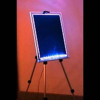 LED Writing Board Clear Frame A2