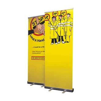 Roll Up Banner Stand, Fixed Height, 1200 x 2000mm