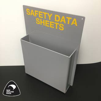 Wall Mounted Grey Holder for SDS Folders