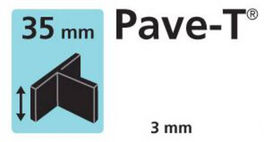 Paver spacer T shape 35mm x3mm thick