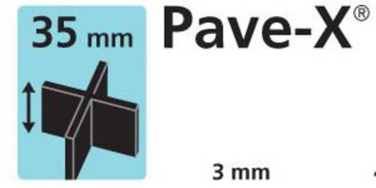 Paver spacer X shape 35mm x3mm thick