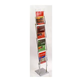 Literature Display Rack, Metal & Acrylic, Collapsible A4 x 4