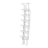 Chrome Wire Literature Holder Wall Mounted A4 7-pocket 7 Tier x 1 Wide