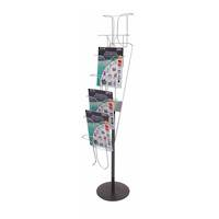 A4 7-pocket Chrome Wire Literature Holder Floor Stand 7 Tier x 1 Wide