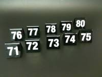 Black Table Numbers 71-80