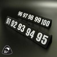Black Table Numbers 91-100