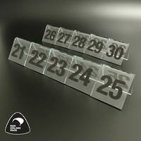 Clear Table Numbers 21-30