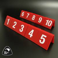 Red Table Numbers 1-10