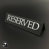 Large Black RESERVED Table Sign