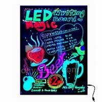 LED Writing Board Black Frame A1 600x800mm