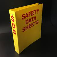 Yellow A4 Ringbinder for SDS Sheets