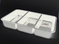 (Tray-018-ABSW) Tray 018 White